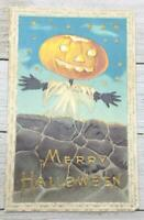 Vintage Merry Halloween Jack-O-Lantern Post Card Postcard