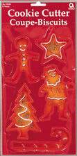CHRISTMAS xmas Cookie Biscuit cutters Pack of 5 Plastic Christmas Cookie Cutters