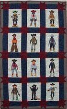 Quilt PATTERN Posse Cowboy Americana boots applique
