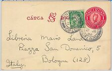 IRELAND - POSTAL STATIONERY CARD - Michel # P2a  with added stamps to ITALY 1936