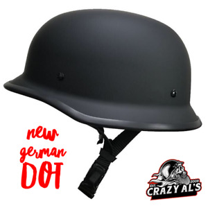Crazy Al's/ WSB World's Smallest Lightest FLAT BLACK-- DOT German Helmet