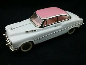 Vintage  Pink and White Friction Standard Sedan Car