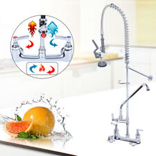 12 Commercial Wall Mount Kitchen Pre Rinse Faucet With Add On Tap Restaurant