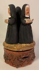 Vintage 3 Nuns Singing Dominique Revolving Music Box 7� Figurines Sankyo Japan