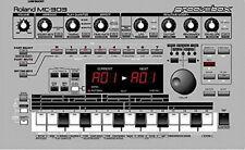 Roland groovebox MC-303 original cloth dust cover [Present set]