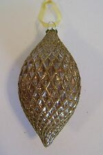 Gold Glitter Finial Glass Ornament Jc Penny Christmas Holiday Decorations