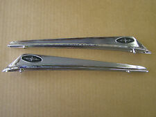 New Repro. 1963 Ford Galaxie Front Fender Ornaments Emblems Guides