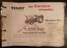 Trattori Fendt Farmer 102 S (fl135) ricambio elenco