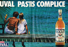 PUBLICITE ADVERTISING 054 1986  PASTIS DUVAL  ( 2 pages) COMPLICE