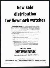 1950's Vintage 1956 Newmark Watches Louis Braham Watch Announcement Print AD