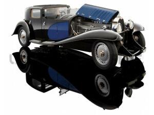 Bauer 1930 BUGATTI ROYALE COUPE DE VILLE Black / Blue 1/18 Scale Hard to find!
