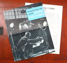 KODAK CINE-KODAK SPECIAL II SALES BROCHURE VI-3 9-54 + PRICE LIST/cks/198635