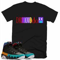 Dream It Do It T-Shirt Retro Jordan 9 Colorblock Tshirt Designed to Match Air Jo