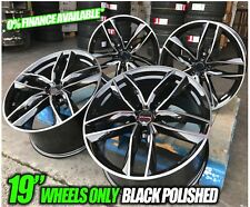 "19"" Audi TTRS Rotor RS6 Style Alloy Wheels Black Machined Audi A4 A6 A8 5x112"