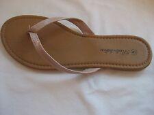 Lot of 13 Pair of Women's Flat Sandals Beige New
