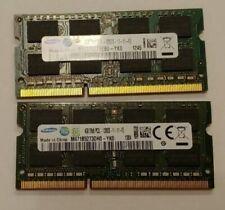 Samsung 8GB kit 2X4GB DDR3 1600MHz 2RX8 PC3L-12800S 1.35V SODIMM Laptop Memory