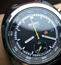 SEIKO Vintage RACER Chronograph 6139-7002 1973 MINT Racing Strap Japan Automatic