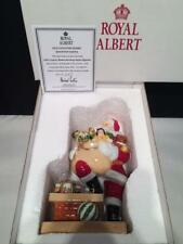 ROYAL ALBERT OLD COUNTRY ROSES ROOFTOP SANTA FIGURINE 1037 RA5 MIB + COA E3998