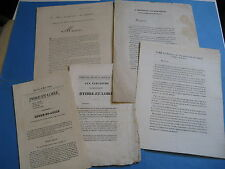 6 TRACTS ELECTIONS CHINON 1831 INDRE GIROD DE L'AIN CADET-GASSICOURT ROYALISME