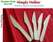 25 Knife DISPOSABLE PARTY WOODEN CUTLERY PACK WOODERN ECO PICNIC CATERING