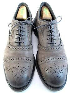"NEW Allen Edmonds ""STRANDMOK"" Leather Nubuck Cap-Toe Oxfords 10 D Brown USA(594)"