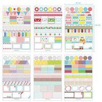 6 Blätter Aufkleber Kalender Sticker Leben Termin Tagebuch Planer Papier Dekor