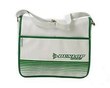 DUNLOP WHITE GREEN RETRO 80s STYLE COURIER FLAPOVER SHOULDER BAG NEW WITH TAGS