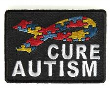 CURE AUTISM RIBBON EMBROIDERED BIKER PATCH