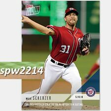 2018 Topps Now Max Scherzer #227 Fastest Pitcher to 100 Ks After 13 K Outing