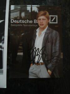 Boris Becker signed 5x7 color post card