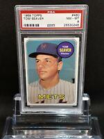 1969 Topps #480 Tom Seaver - HOF - Mets - PSA 8 - NM-MT - 25530248 - SCA