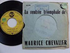 Dernieres chansons de Paris MAURICE CHEVALIER C est ca Paname 45179 PROMO   RTL