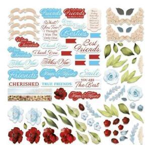 Blooming Friendship Diecut Ephemera Set 58pce - Couture Creations