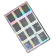 Great Mermaid Scale Style Nail Art Vinyl Stencil Guides Tips Manicure Stickers