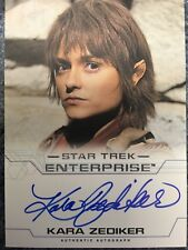 Kara Zediker as T'Pau Star Trek Enterprise Season 4 Autograph Card Auto