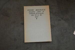 Henri Michaux / La ralentie GLM 1937