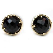 DAVID YURMAN New Chatelaine 18K Gold and 8mm Black Onyx Stud Earrings