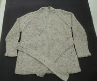 BNWoT Hand chunky knitted browns long sleeve open jacket / cardigan Size 12 / 14