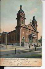 st josephs cathedral, st joseph missouri, 1907 early card undivided back