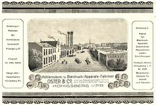 Kohlensäure Fabrik Oster Königsberg Bier Reklame 1922 Ostpreussen Brauerei