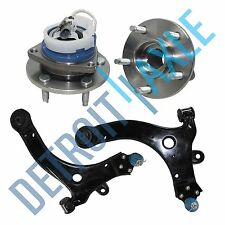 Front Lower Control Arms & Ball Joint + Wheel Hubs and Bearing Assembly w/ ABS