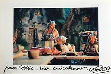 Albert UDERZO Photos film Astérix dédicace autographe signée