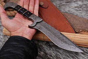 "12""Custom Handmade HAND FORGED DAMASCUS STEEL TRACKER HUNTING KNIFE Fix Blade"