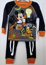 NWT Disney boys Mickey Mouse & Pluto Halloween GID Pajamas sz. 2
