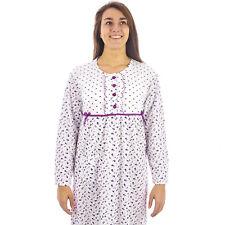 Camicia da notte donna  invernale in caldo cotone interlock felpata  7DICAM029