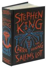 STEPHEN KING ~ 3 NOVELS ~  LEATHER GIFT ED The Shining CARRIE Salem's Lot ~ NEW!
