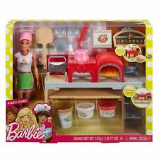 BARBIE PIZZA CHEF DOLL and Playset (w/ creative features) Blonde FHR09 Ages 3+