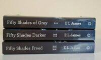 Fifty Shades Of Grey ~ Darker ~ Freed ~ Paperback Book Trilogy Set Of 3 Books
