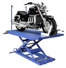 High Rise 1500 Lb Motorcycle Lift With Vise Side Extensions Free Shipping