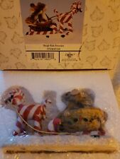 Fitz & Floyd Charming Tails Sleigh Ride Sweeties All Mint (14)